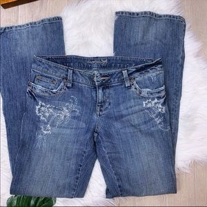 American Eagle Med Wash Stretch Flare Denim Jean